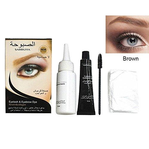 Augenbrauen Färben, Leegoal Mode Professionelle Tönung Kit Lange Dauerhaft Wasserdicht Permanent Augenbraue Creme für 60 Tage (Braun)