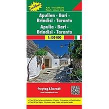 Apulien - Bari - Brindisi - Taranto, Autokarte 1:150.000, Top 10 Tips, freytag & berndt Auto + Freizeitkarten