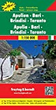 Apulien - Bari - Brindisi - Taranto, Autokarte 1:150.000, Top 10 Tips, freytag & berndt Auto + Freizeitkarten - Freytag-Berndt und Artaria KG