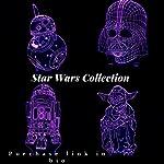 3d led ilusión Set de 4diseños 7colores gráfico impreso nightlamp–Star Wars Collection