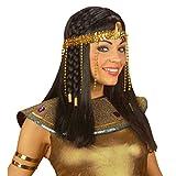 Cleopatra Kopfschmuck Ägypterin Haarschmuck gold Ägyptische Königin Haarkette Fasching Ägypten Göttin Haarkranz Kopfschmuck Römin Griechin Kleopatra Goldschmuck Antike Mottoparty Accessoire Karneval Kostüm Zubehör