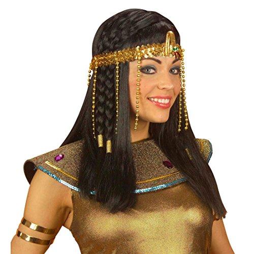 Goldener Cleopatra Kopfschmuck Göttin Schmuck gold Ägyptischer Kopfschmuck Kleopatra Schmuck Ägypterin Haarschmuck Kostüm Zubehör