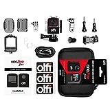 Olfi one.five - Action Camera 4K, con scheda SD da 64 GB e custodia da trasporto, colore: Nero