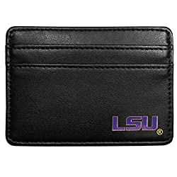 NCAA LSU Tigers Leather Weekend Wallet, Black