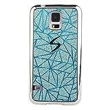 Pheant® Samsung Galaxy S5 Mini Hülle Silikon Schutzhülle Überzug Stoßstange Glitzer Handyhülle mit Glänzend Pailletten Design in Blau