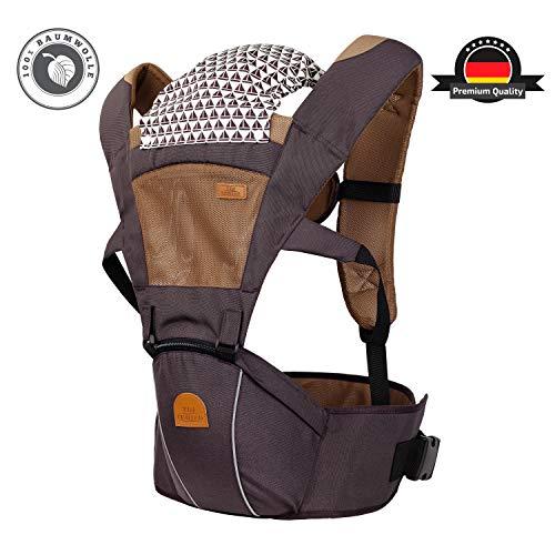 TRI Limited Premium Ergonomische 6in1 Babytrage aus 100{cd03ec8224dabf9b33d5349509528503b66711d47fd71e813c979161ab2bda0f} Baumwolle für Babys ab 4 Monate, die perfekte Babytragetasche, Tragegurt Baby, Baby Trage, Tragetasche, Kindertrage für Eltern