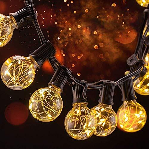 31 LED Lichterkette Glühbirne B-right G40 Lichterkette, strombetrieben, Innen und Außen Lichterkette, 155 leds, wamrweiß. Weihnachtsbeleuchtung Lichterkette für Balkon Weihnachten Hochzeit Party -