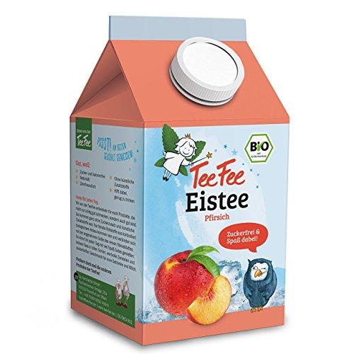 TeeFee  Bio  Eistee mit Pfirsichgeschmack, 8er Pack (8 x 500 ml)