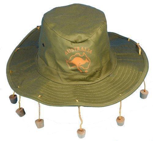 Imagen de sombrero australiano cocodrilo dundee con corchos para disfraz