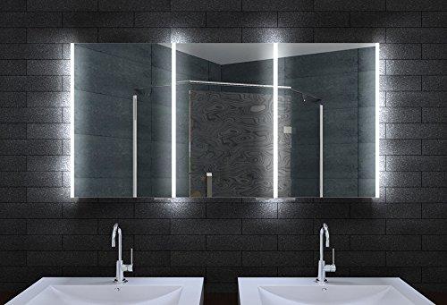 Badezimmer spiegelschrank beleuchtet  Alu Badschrank badezimmer spiegelschrank bad LED Beleuchtung 160 x ...