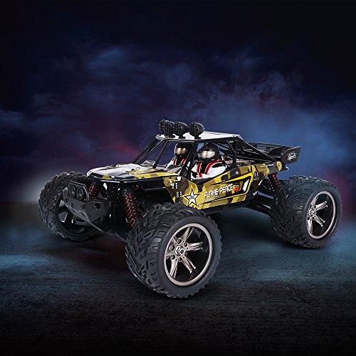 RC Auto kaufen Truggy Bild 5: GPTOYS Ferngesteuertes Fahrzeug RC Autos 1:12 Skala 2WD 2.4 GHz 26+MPH Halb-Wasserdicht Monstertruck Geländewagen --- Geschenk für Kinder*