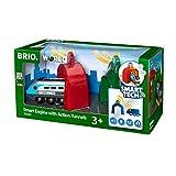 BRIO World - Smart Tech - 33834 - LOCOMOTIVE INTELLIGENTE ET PORTIQUES