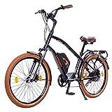 Leisger CD5 36V, E-Bike Cruiser, 14Ah 504Wh Panasonic Zellen Akku, matt schwarz/orange