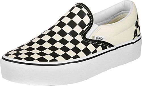 Vans Damen Classic Slip-On Platform Sneaker, Schwarz (Black and White Checker/White BWW), 41 EU Vans Slip-on White