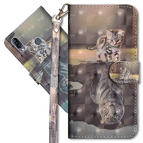 Asus ZB633KL Schutzhülle/Brieftasche für Asus ZB633KL Premium PU Leder Case von CotDINFORCA 3D kreatives Painted Effect Design Full Body Schutzhülle für Asus ZB633KL, B PU- Peacock Flower Series 4 (Alte Flip-telefone Motorola)