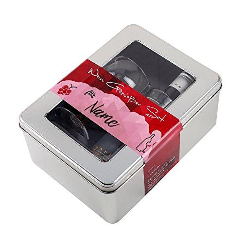 Preisvergleich Produktbild Privatglas Wein Genießer-Set mit Bree Rotwein und einem Weinglas in Geschenkbox mit Wunschnamen