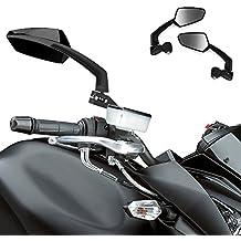 Par Retrovisor Espejo 10mm 8mm para Bicicleta Motocicleta Vista Trasera Estilo Negro