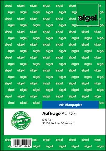 Preisvergleich Produktbild Sigel AU525 Auftragsbuch A5, 2x50 Blatt