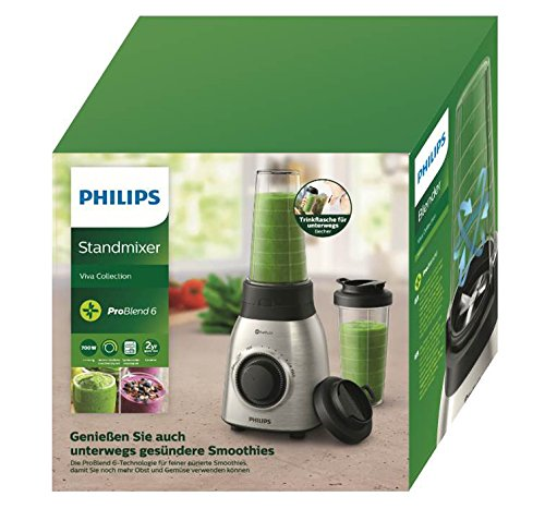 Philips-Viva-Collection-HR355100-Standmixer-700-Watt-ProBlend-6-Technologie-silber-schwarz