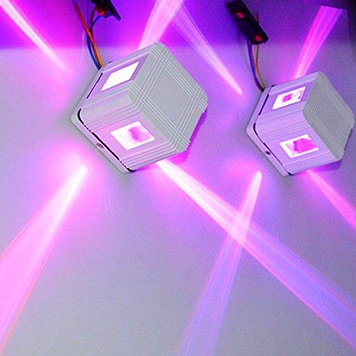 Die LED auf der Außenwände von Gebäuden wasserdichte Outdoor KTV Kreuz Sterne licht Wandleuchten Wandleuchte, Wand waschen lightss, Wandleuchte Lichtstrahl der Lampe, 3W schwarz violett (Violet Waschen)