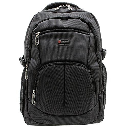 Bag Street Rucksack für Damen und Herren mit Fach für Netbook Dunkelgrau