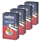 Lavazza Kaffee Crema E Gusto, gemahlen, geeignet für Mokka Herdkanne, 4er Pack, 4 x 250g
