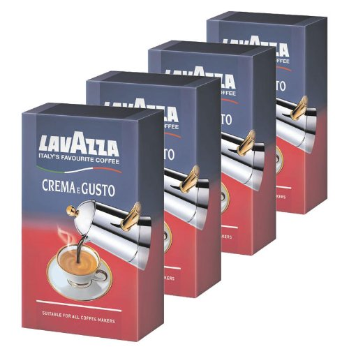 Lavazza Crema e Gusto, Café Molido, también para Cafeteras italianas, Pack de 4, 4 x 250g width=