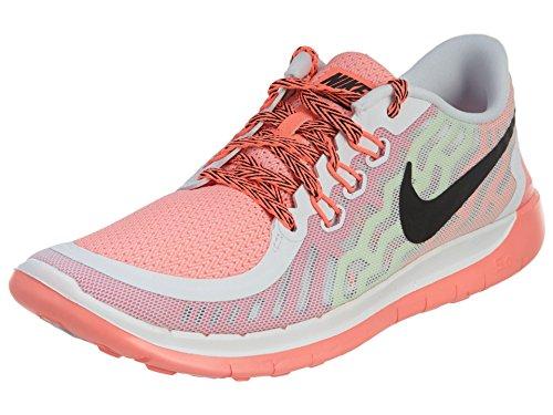 Nike Free 5.0, Running Fille, Mehrfarbig White/Black/Pink Pow/Lava Glow