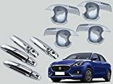 #6: Auto Pearl - Premium Quality Chrome Door Handle Latch Cover With Bowl (With Sensor Model) For - Maruti Suzuki Swift Dzire 2017
