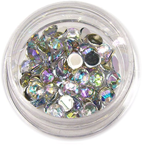 RM Beautynails Pierres en strass rondes de 4 mm Env. 50 pièces pour manucure et nailart