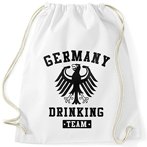 MoonWorks Schicker Festival Turnbeutel Germany Drinking Team Adler Bier Weiß Unisize