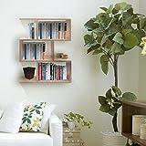 #4: Klaxon Home Decor Wooden Wall Shelves / Book Shelf And Storage Wall Shelves- (Beige,Matte Finish)