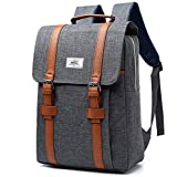 Laptop Rucksack für Damen & Herren 17 Zoll Rucksack für Laptop 15 Zoll wasserdicht Nylon Dayback Casual Laptop Tasche Anti-Diebstahl grey