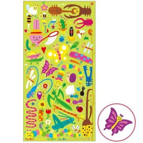 graciosas-pegatinas-lindo-animal-insecto-bicho-de-colores-de-mind-wave