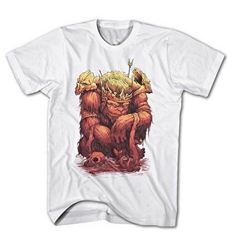 Herren König der Affen Devil Monkey Comic Game Weiß