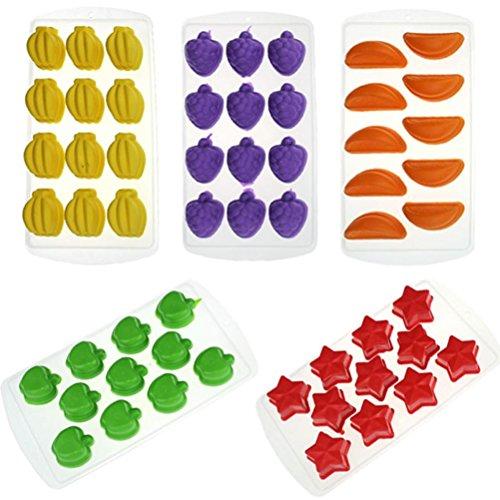 DIY Form, HARRYSTORE Silikon Eiswürfel Gelee Schokolade Kuchen Tablett Pudding Schimmel(Zufällige Farbe) (Eis-skulpturen-buchstaben)