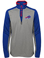"Buffalo Bills Youth Jeunes NFL ""Matrix"" 1/4 Zip Pullover Sweatshirt Chemise"