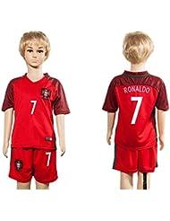 Top vente Portugal 7Cristiano Ronaldo Home pour enfants Kid Enfant Football Soccer Jersey en rouge