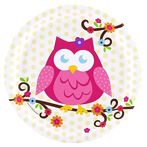 Owl Blossom Party Supplies - Dinner Plates (8) by BirthdayExpress (Party Supplies Owl)