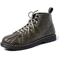 Botas de hombre Casual moda casual Boots Martin todo partido alto ocio Arte retro Martin botas,Verde,Treinta y nueve