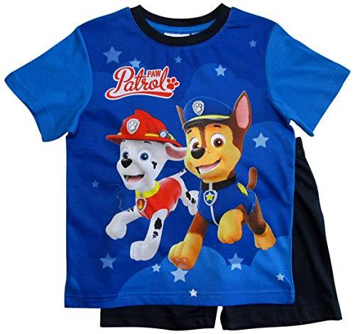 Paw Patrol Schlafanzug Kollektion 2018 Pyjama 92 98 104 110 116 122 Shortie Shorty Jungen Blau (Blau, 116)