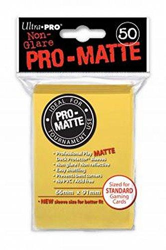 Ultra Pro 84186 - Deck-Schutz Standard Sleeves, Pro-Matte - Non Glare, gelb
