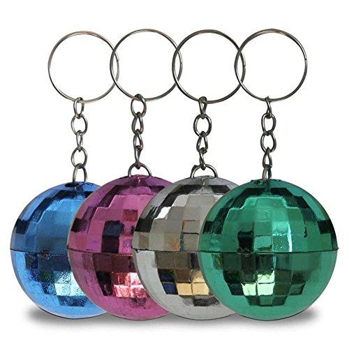 53508, 12 Stück bunte Disco-Kugeln, Disko-Kugeln, Diskokugel als Schlüsselanhänger