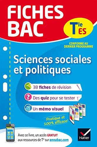 Fiches Bac Sciences Sociales Et Politiques Tle Es Fiches De Revision Terminale Es