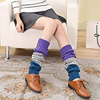 Calcetines de confort Conjunto de botas para pierna suelta, cálidas y gruesas, de otoño e invierno, y de lana de pelo largo, sobre las rodillas conjunto de botas de pierna cálida (Color: Púrpura)
