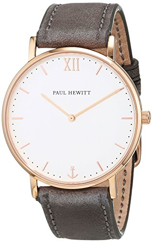 Paul Hewitt Unisex-Armbanduhr Analog Quarz Leder PH-SA-R-St-W-13M