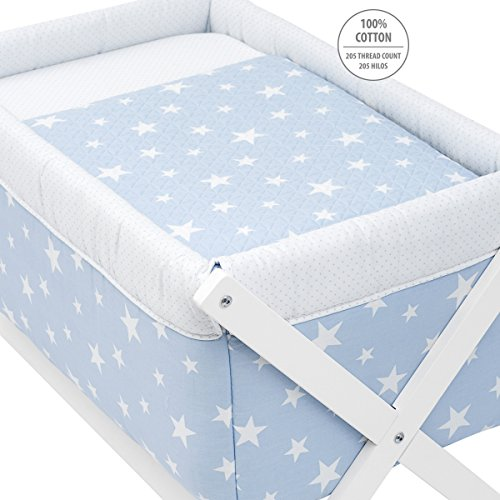 Cambrass Be Universe Small Bed X Wood, 55 x 87 x 74 cm, Une Blue