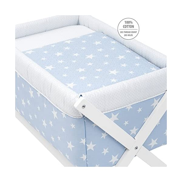 Cambrass Be Universe Small Bed X Wood, 55 x 87 x 74 cm, Une Blue   2