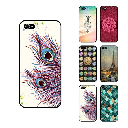D9Q Kunst Gedruckt Muster Abstrakt Telefon Fall Hard Cover Protector Hülle für iPhone 5C !!Farbe 5