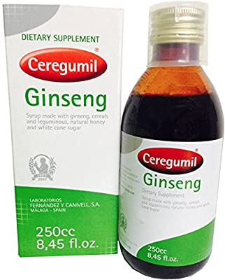 Ceregumil Pure Liquid Ginseng Extract 6 Year Panax Root, 15mg Ginsenosides to Help Fight Physical & Mental Fatigue, Boost Energy, Daily Performance, Concentration and Reflexes Natural Energy Supplement Produced in Korean Manufactured in Europe - No Additi